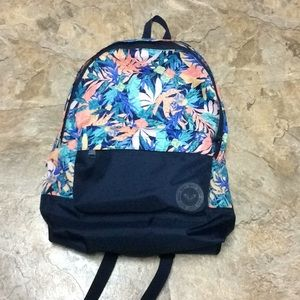Roxy sugar river backpack teal tropical & navy NWT